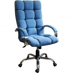 Кресло руководителя Кларк Хром микрофибра, кожзам