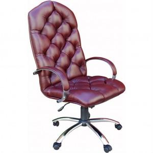 Кресло руководителя Чарльз Хром кожа матрикс