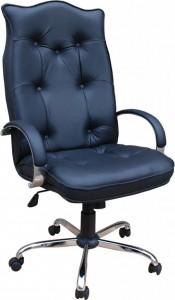 Кресло руководителя Корона Хром экокожа стандарт, микрофибра