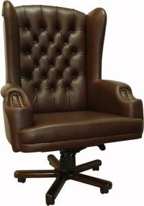 Кресло руководителя Олимп ЕХ натуральная кожа