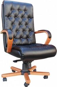 Кресло руководителя Роял Люкс EX/МП натуральная кожа