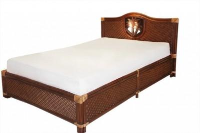 Кровать «Андреа Пальмы» (Andrea Palm) нат. ротанг (Пекан)