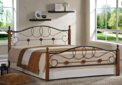 Кровать двуспальная AT 822 (метал. каркас) + основание QUEEN