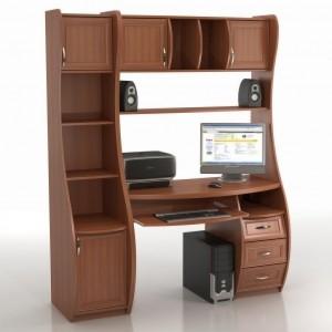 Компьютерный стол КС-1К БЕРКУТ СО СТЕЛЛАЖОМ ТРИУМФ - СФ-403Д