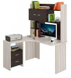 Компьютерный стол СКЛ-УГЛ130+НКЛХ-130
