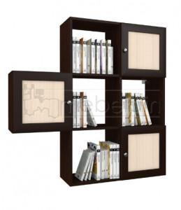 Полка для книг Мебелайн-3