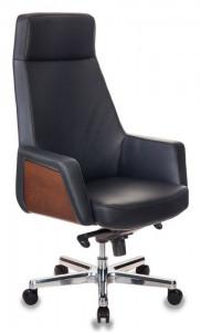 Кресло руководителя Бюрократ-ANTONIO/BLACK черный кожа крестовина алюминий