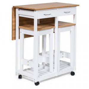 Стол кухонный с 2-мя табуретами (mod. JWPE-120809)