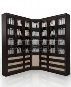 Книжный шкаф «Библиотека Мебелайн 56»