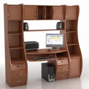 Компьютерный стол КС-1К БЕРКУТ со стеллажами триумф СФ-403Д И СФ-433Д (копия)