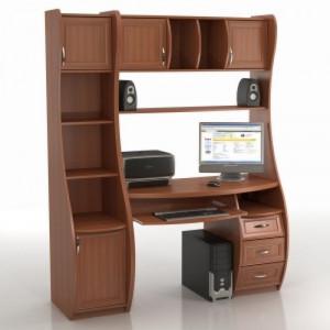 Компьютерный стол КС-1К БЕРКУТ СО СТЕЛЛАЖОМ ТРИУМФ - СФ-403Д (копия)
