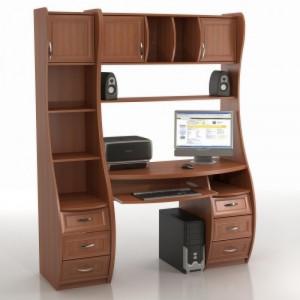 Компьютерный стол КС-1К БЕРКУТ со стеллажом триумф СФ-433Д
