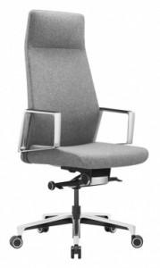 Кресло руководителя Бюрократ _JONS/CASHGREY серый крестовина алюминий