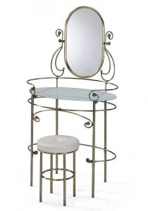Туалетный столик с пуфом «Альберт» (Albert) (Античная медь)