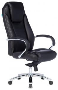 Кресло руководителя Бюрократ T-9923SL/BLACK черный кожа крестовина хром