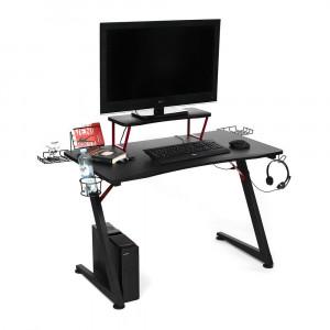 Стол компьютерный «Cyber-5» (чёрный/красный)