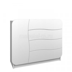 Белый комод Мебелеф-32