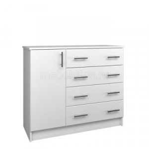 Белый комод Мебелеф-15