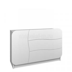 Белый комод Мебелеф-30