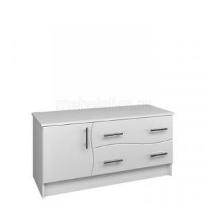 Белый комод Мебелеф-17