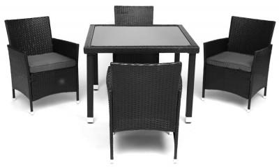 Обеденный сет (стол + 4 стула) (mod. 210036)