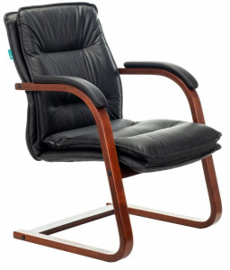 Кресло на полозьях T-9927WALNUT-AV/BL