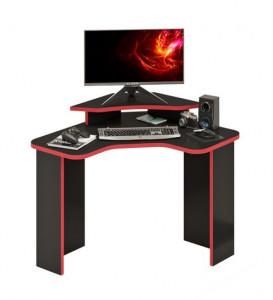 Компьютерный стол СКЛ-ИГРУГЛ100Ч+НКИЛ-УГЛ Ч