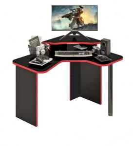 Компьютерный стол СКЛ-ИГРУГЛ120Ч+НКИЛ-УГЛ Ч
