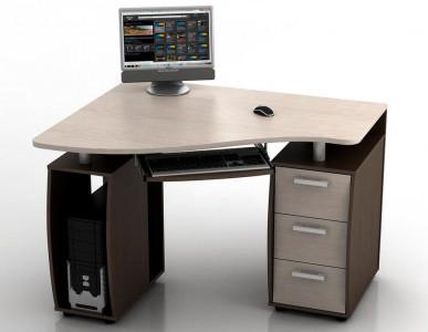 Угловой компьютерный стол КС-12У Ибис левый