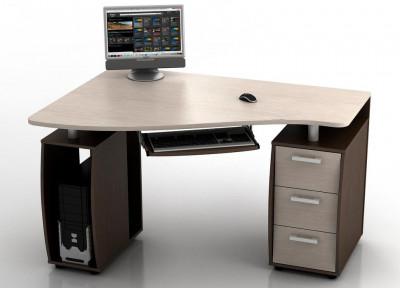 Угловой компьютерный стол КС-14У Ибис левый