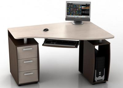 Угловой компьютерный стол КС-14У Ибис правый
