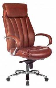 Кресло руководителя Бюрократ T-9922SL рыжая кожа