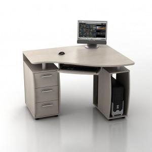 Угловой компьютерный стол КС-12У Ибис правый