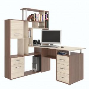 Компьютерный стол с надстройкой КС 15 Д Орхидея